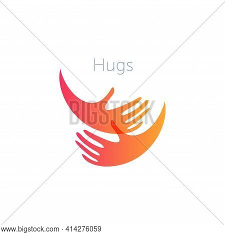 Human Hugs Support And Love Symbol Pregnancy Clinic Logo Donations Logotype Template Crowdfunding Si