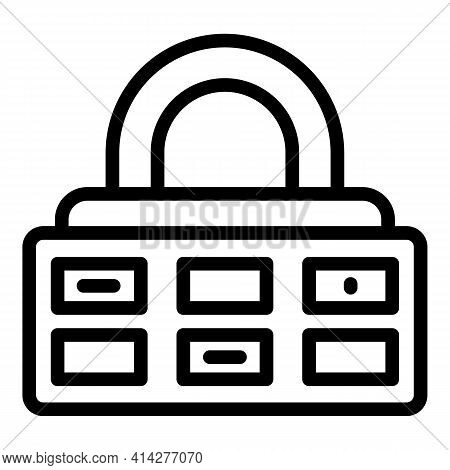 Guard Cipher Icon. Outline Guard Cipher Vector Icon For Web Design Isolated On White Background