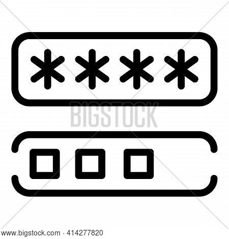 Privacy Password Icon. Outline Privacy Password Vector Icon For Web Design Isolated On White Backgro