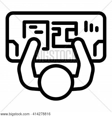 Ergonomic Workplace Icon. Outline Ergonomic Workplace Vector Icon For Web Design Isolated On White B