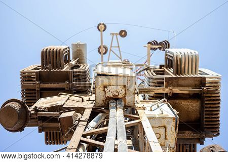 Ac High-voltage Power Transformer. Electrical Energy Transfer To End Users Through Distribution Tran