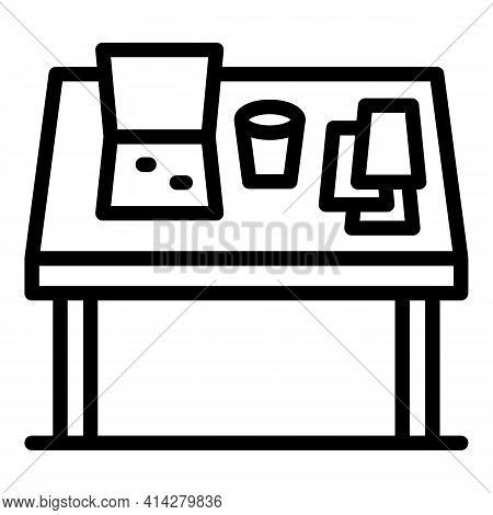 Organized Table Icon. Outline Organized Table Vector Icon For Web Design Isolated On White Backgroun