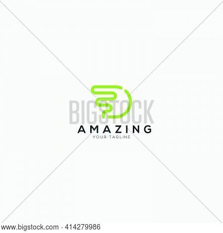 Fast Simple D Logo D Letter Modern Line