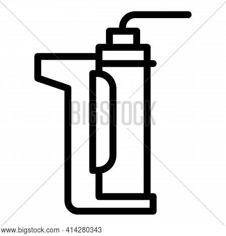 Silicone Caulk Gun Icon. Outline Silicone Caulk Gun Vector Icon For Web Design Isolated On White Bac