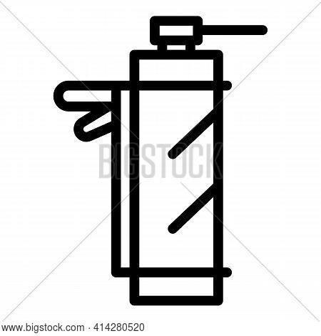 Caulk Pistol Icon. Outline Caulk Pistol Vector Icon For Web Design Isolated On White Background