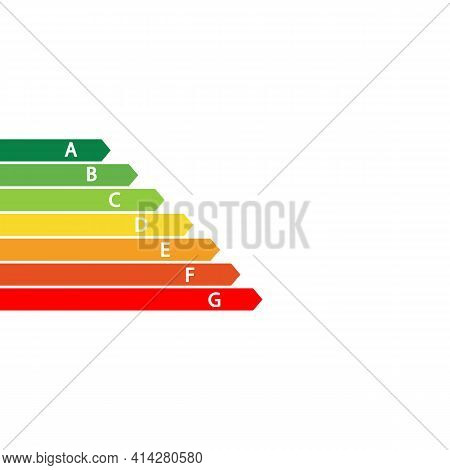 Set Of Scales For Measuring Energy Level. Energy Efficiency Concept. Vector Illustration Eps 10
