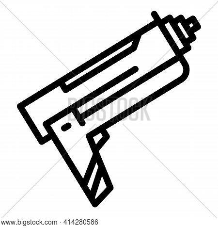 Caulking Tool Icon. Outline Caulking Tool Vector Icon For Web Design Isolated On White Background
