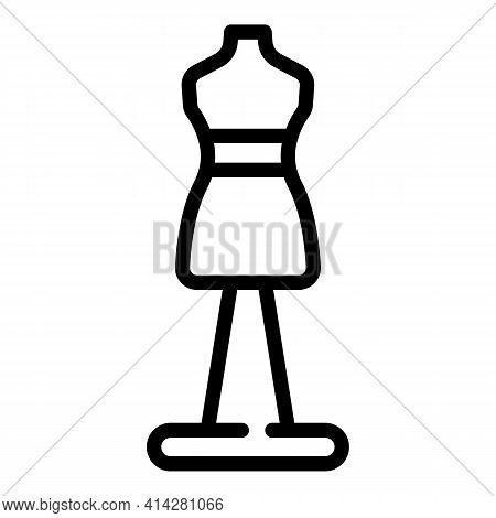 Sew Mannequin Icon. Outline Sew Mannequin Vector Icon For Web Design Isolated On White Background