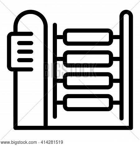 Textile Machinery Icon. Outline Textile Machinery Vector Icon For Web Design Isolated On White Backg
