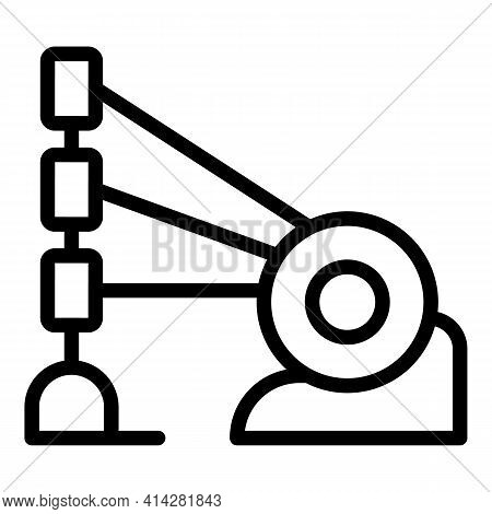Loom Equipment Icon. Outline Loom Equipment Vector Icon For Web Design Isolated On White Background