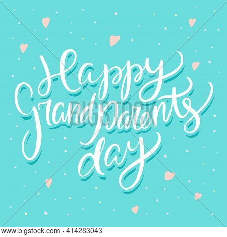 Happy Grandparents Day. Greeting Card. Vector Illustration.