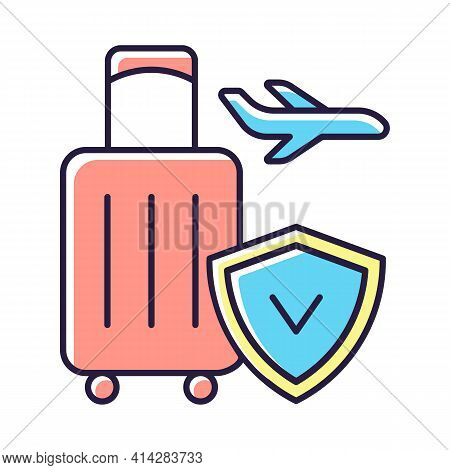 Travel Insurance Rgb Color Icon. Covering Traveling Costs And Losses. Reimbursement For Flight Delay