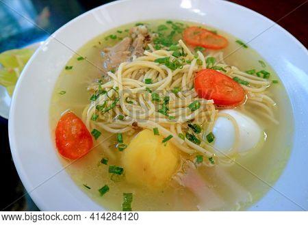 Mouthwatering Peruvian Spicy Chicken Noodle Soup Or Caldo De Gallina Soup