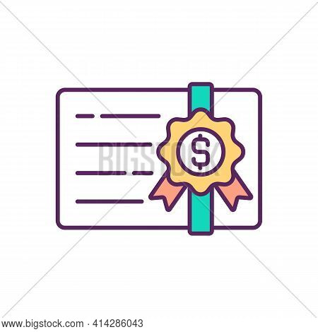 Stockbroker Licensing Rgb Color Icon. Registered Representative. Practicing Broker. Investment Caree