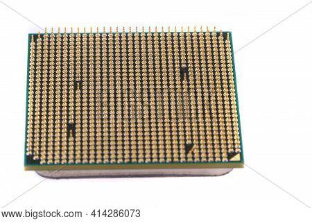 Computer Microprocessor Isolated
