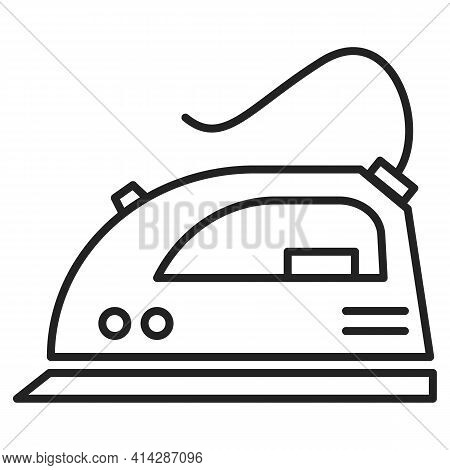 Iron Vector Isolated Icon. A Household Appliance