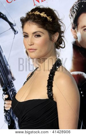 LOS ANGELES - JAN 24:  Gemma Arterton arrives at the the 'Hansel And Gretel: Witch Hunters' premiere at the Chinese Theat theer on January 24, 2013 in Los Angeles, CA