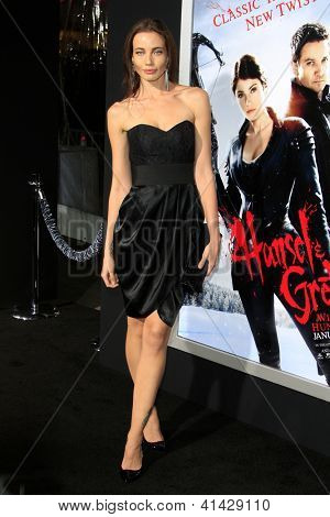 LOS ANGELES - JAN 24:  Stephanie Corneliussen arrives at the the 'Hansel And Gretel: Witch Hunters' premiere at the Chinese Theat theer on January 24, 2013 in Los Angeles, CA