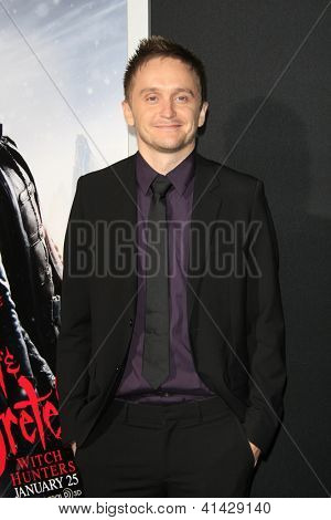 LOS ANGELES - JAN 24:  Tommy Wirkola arrives at the the 'Hansel And Gretel: Witch Hunters' premiere at the Chinese Theat theer on January 24, 2013 in Los Angeles, CA