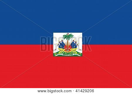 Illustrated Drawing of the flag of Haiti
