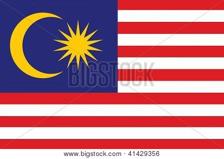 Illustrated Drawing of the flag of Malaysia
