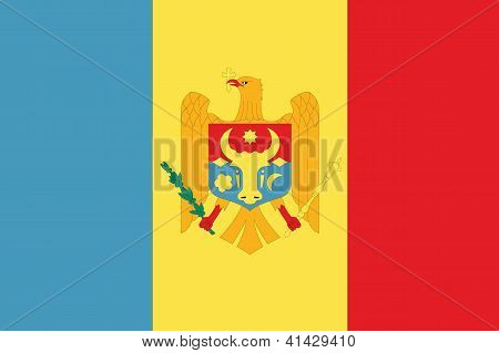 Illustrated Drawing of the flag of Moldova