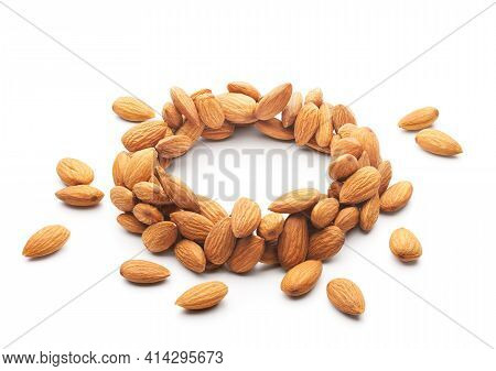 Ring Shape Formation Almond Nuts For Product Placing Purpose