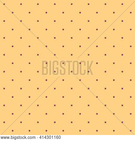 Seamless Pattern - Small Burgundy Dots On A Beige-sand (burly Wood) Background. Moderate Graphic Tex