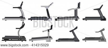 Treadmill Vector Cartoon Set Icon. Vector Illustration Runner Equipment On White Background. Isolate