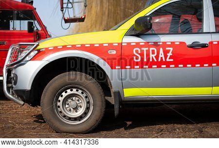 Polish Fire Brigade - Inscription On The Car.