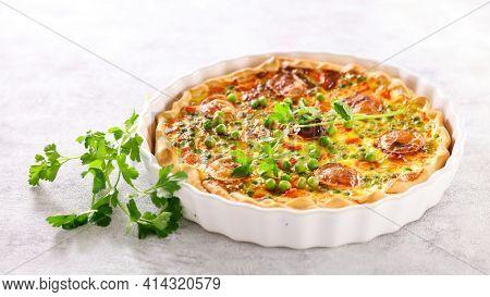 vegetarian quiche, pie or tart