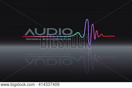 Music Logo Concept Sound Wave, Studio, Music, Dj, Audio System, Store, Party. Brand, Branding, Compa