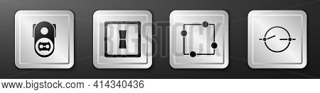 Set Electrical Outlet, Electric Light Switch, Electric Circuit Scheme And Electric Circuit Scheme Ic