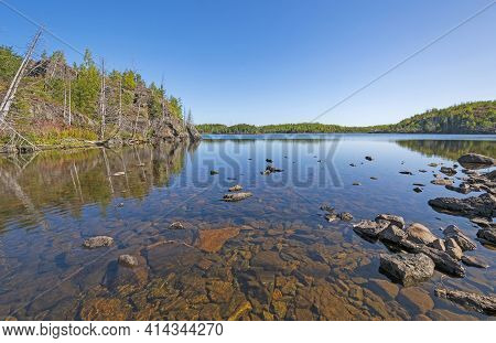 Blue Waters On A Wilderness Lake On Alpine Lake In The Boundary Waters In Minnesota