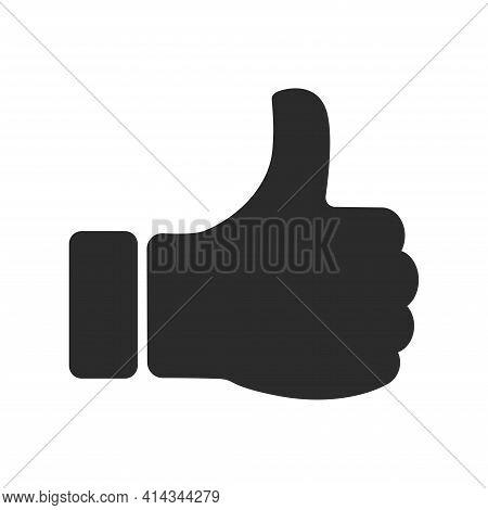 Thumb Up Vector Icon, Hand Thumb Up Icon Flat. Vector Illustration.
