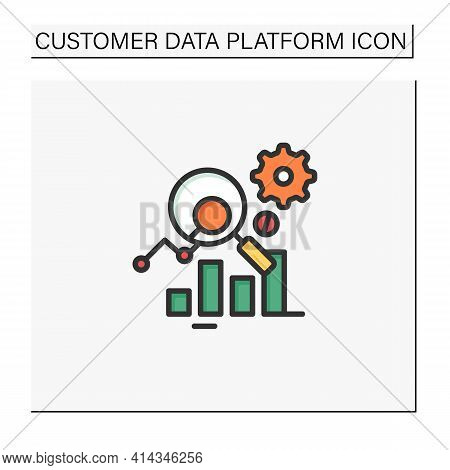 Measurement Analytics Color Icon. Combines Measurement Science And Validity Theory, Using Digital Bi
