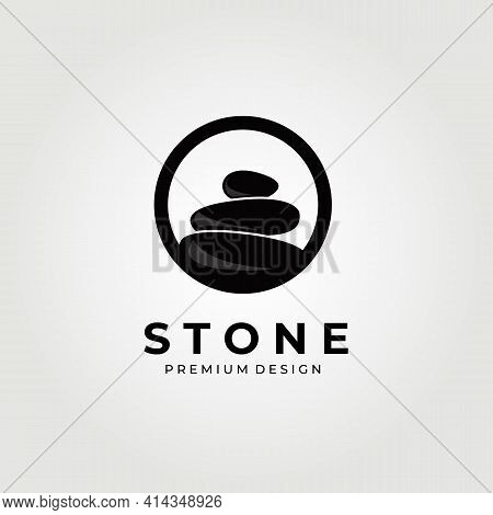 Balance Stone Circle Logo Vector Illustration Design