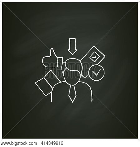 Election Candidate Chalk Icon. Politician. Elected Applicant. Choice, Vote Concept. Democracy. Parli