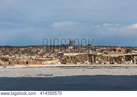Winter View Of Levis And The St. Lawrence River From The Old Quebec City