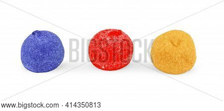 Marshmallows Isolated On White Background. Carbohydrates, Assortment, Calories, Enjoy, A, Holiday, P