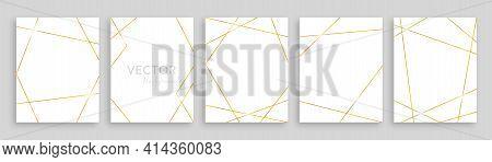 Gold Frame Elements. Luxury Banner Or Poster. Modern Golden Background. Gold Texture Template. Weddi