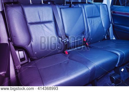 Novosibirsk, Russia - March 26  2021: Lexus Gx460, Comfort Car Inside. Clean Car Interior: Black Bac