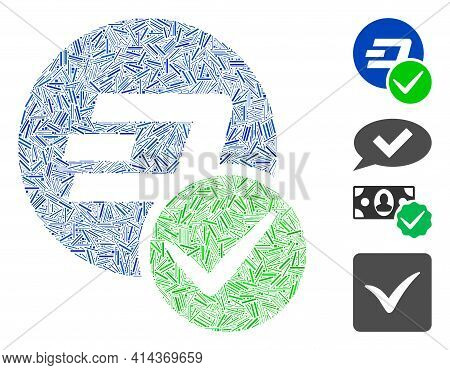 Line Collage Valid Dashcoin Icon Organized From Straight Items In Variable Sizes And Color Hues. Lin