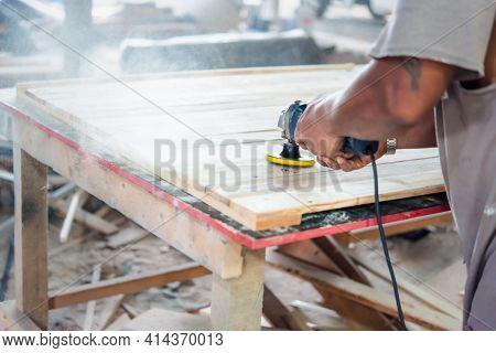 Carpenter Build Furniture At Wood Factory For Sale