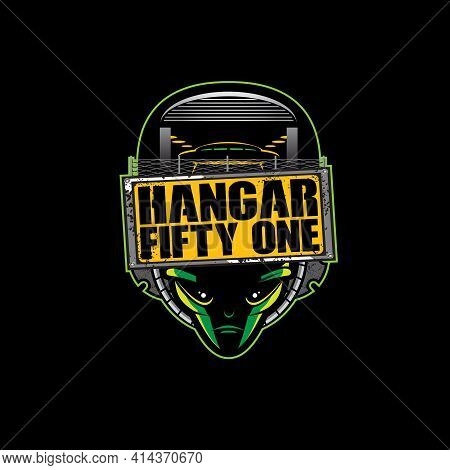 Hangar Fifty One Vector Can Be Used As Logo, T-shirt Graphic Or Any Other Purpose