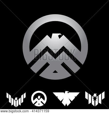 Eagle Insignia Symbol Concept Set Vector Illustration