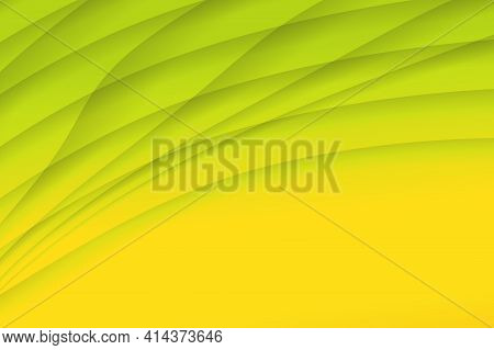 Yellow Green Abstract Background With Space For Text. Wallpaper For Spring And Summer. Presentation