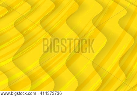 Flat Design Yellow Comics Background, Like Dunes In Desert. Presentation Title Slide Design Template