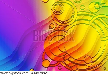 Gradient Geometric Wallpaper. Abstract Background From Geometric Shapes And Circles. Presentation Ti