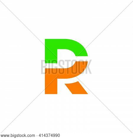 Abstract Letter Pr Simple Geometric Linked Colorful Logo Vector
